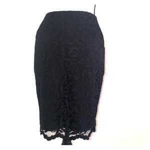 🌺 Cache black lace pencil skirt size 4